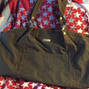 Baggallini large army green tote purse carry on